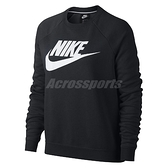 Nike 長T Sportswear Rally 女款 大學T 大學服 長袖 上衣 黑白 黑 白 【ACS】 930906-010