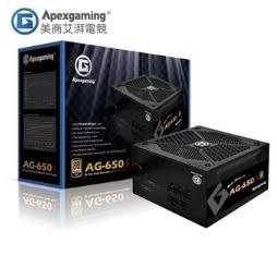 【超人生活百貨】 美商艾湃電競 Apexgaming AG-650S 650W 金牌半模組 高效能LLC諧振電源設計架構