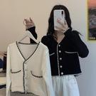 超值女裝 短款上衣女V領開衫外套夏季2020年新款韓版溫柔泫雅風長袖針織衫 好樂匯