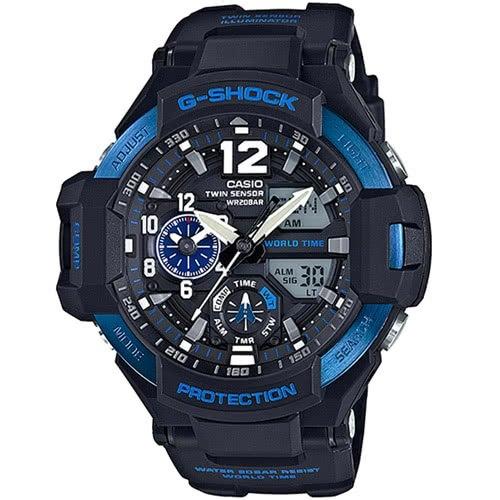 【東洋商行】免運 CASIO 卡西歐 G-SHOCK 雙時區數位羅盤飛行錶(限量) GA-1100-2BDR 手錶 電子錶 腕錶