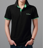 2019夏季男士短袖T恤 男裝翻領修身純色POLO衫男韓版商務有領半袖