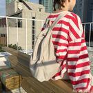 韓版潮新款後背包學院風書包chic帆布包女背包百搭學生休閒包YYJ  夢想生活家