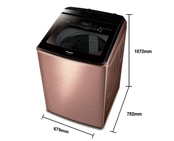 《Panasonic 國際牌》nanoe 18公斤 直立式變頻 溫水 雙效自動槽洗淨洗衣機 NA-V198EBS-B(薔薇金)