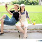 率性帶男孩風的連身褲版型加上大口袋與抽鬚的特殊設計 根據內搭上衣轉換不同搭配風格