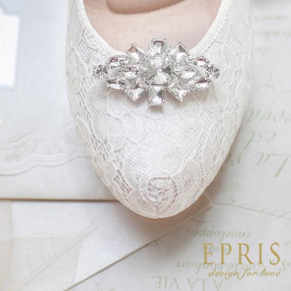 低調奢華菱形水晶鞋扣鞋飾鞋花