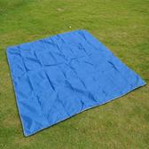【PUSH!登山戶外用品】2.1X2.15M遮陽棚 地墊 野餐墊P37-1橙色