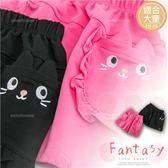 大童款 大童女-荷葉造型口袋棉質短褲(270031)★水娃娃時尚童裝★