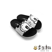 【樂樂童鞋】台灣製巴布豆親子款拖鞋-白色 C096 - 親子鞋 拖鞋 男童鞋 女童鞋 兒童拖鞋 台灣製