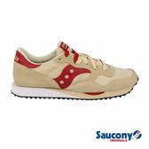 SAUCONY DXN TRAINER 經典復古鞋款-卡其x紅