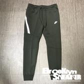 Nike Nsw 軍綠色 縮口褲 長拉鍊 長褲 棉褲 男 (布魯克林) 2019/1月 805163-356