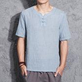 夏季薄款麻衣男亞麻短袖T恤民族中國風復古男裝棉麻半袖中式上衣 優家小鋪