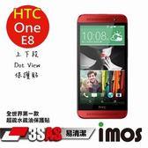 iMOS HTC One E8 上下段 Dot View 精細孔洞 保護貼