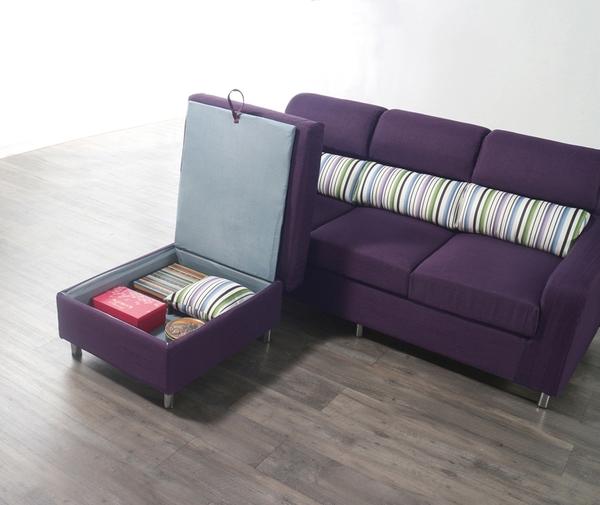 沙發 L型布沙發 QW-329-4 金田L型紫色布沙發 (可左右擺放) 【大眾家居舘】