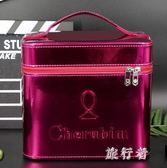 化妝箱 手提化妝包便攜多功能特大號簡約防水收納盒 BF9847【旅行者】