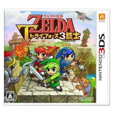 3DSLL-薩爾達傳說:三角神力 3 劍客 日文版 新品 PLAY-小無電玩