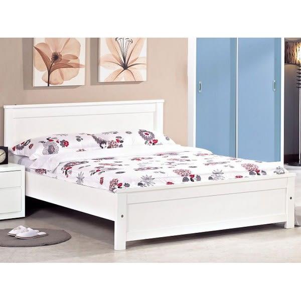 床架 床台 AM-363-1 布拉克白色實木3.5尺實木床 (不含床墊) 【大眾家居舘】