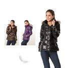 【SAMLIX 山力士】女 時尚都會亮面羽絨外套(#362黑色.紫色.咖啡色)