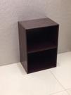 ONE HOUSE-優質胡桃色2層空櫃/收納櫃/多層櫃/書架/置物櫃/高低櫃/展示櫃