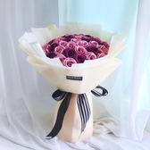 聖誕節高端結婚禮品52朵玫瑰香皂花手捧花送老婆情人 創意女生生日禮物