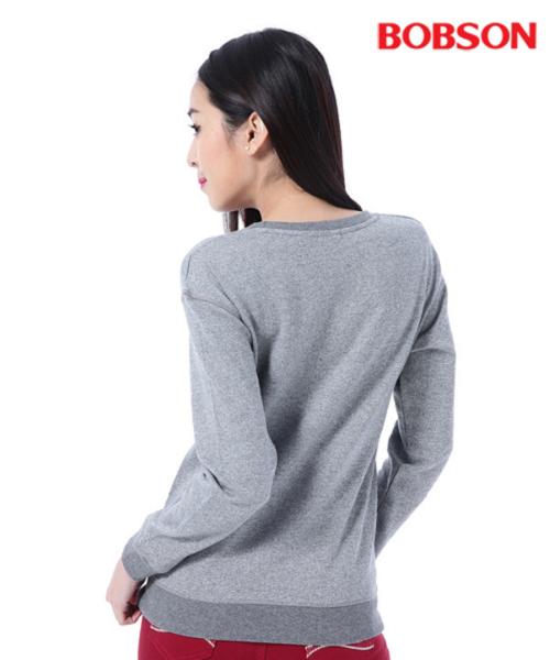 BOBSON    女款毛巾繡拉鍊裝飾上衣(35127-82)