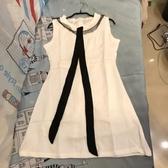 韓版顯瘦修身基本款無袖洋裝(M號/222-7214)