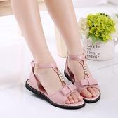 韓版夏季平底水鑚公主鞋時尚兒童魚嘴潮防滑鞋子女童涼鞋