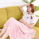 毛毯 空調毯珊瑚絨午睡毯毛毯午休毯單人蓋毯沙發毯子 nm6523【pink中大尺碼】