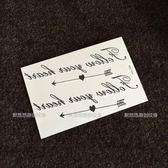 紋身貼英文字母男小清新防水女歐美范紋身貼紙【韓衣舍】