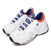 Skechers 休閒鞋 D Lites 3.0-Meet Your Match 白 藍 橘 女鞋 運動鞋 【ACS】 88888329WBOR
