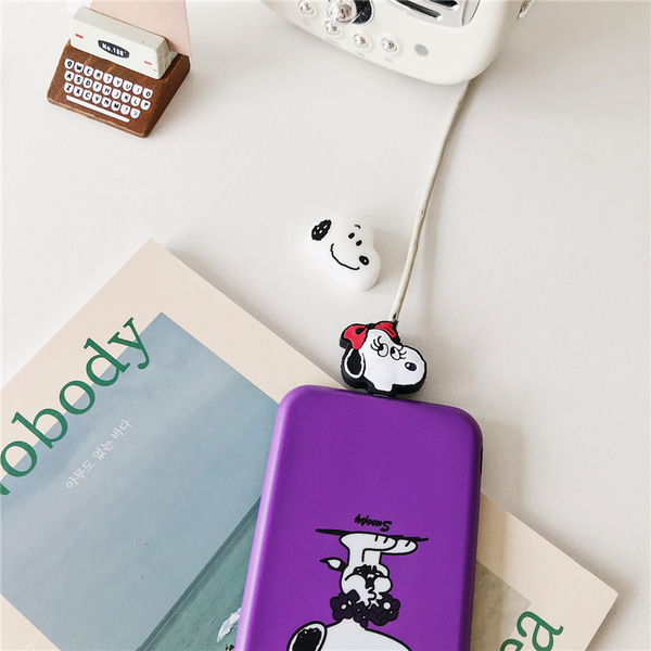 超可愛史努比 保護線套 iPhone專用 充電線套 傳輸線套 充電線套