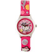 Hello Kitty 玩樂星球造型腕錶-粉紅