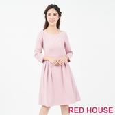 【RED HOUSE 蕾赫斯】素面打摺洋裝(共兩色)