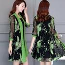 2021夏季新款韓版女裝中老年媽媽裝民族風旗袍外套女中長款防曬衣
