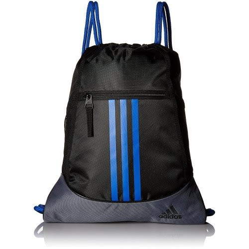 Adidas- 聯盟後背袋包(黑色/藍色)
