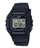 CASIO 卡西歐 經典防水 運動手錶(W-218H-1A 黑)