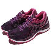 【六折特賣】Asics 慢跑鞋 Gel-Nimbus 19 紫 粉紅 白底 路跑 舒適緩震 運動鞋 女鞋【PUMP306】 T750N9020