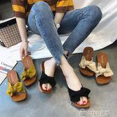 平底拖鞋  韓版平跟拖鞋女百搭室外穿一字拖沙灘平底涼拖鞋女鞋   ciyo黛雅