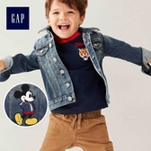 Gap x Disney男嬰幼童 迪士尼系列米奇牛仔夾克 496127-中度水洗