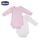 chicco-糖果兔系列-長袖連身衣二入-粉