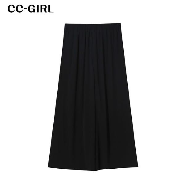 中大尺碼  九分闊腿雪紡寬褲~共兩色 - 適XL~4L《 68238 》CC-GIRL