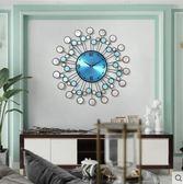 碧海深情(天然深海貝殼)普賽克 純手工鐵藝深海貝殼鐘錶掛鐘時鐘客廳家用靜音