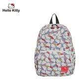 【橘子包包館】Hello Kitty 繽紛凱蒂-後背包-白 KT01V07WT