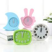 桌面學生兒童小鬧鐘床頭座鐘台鐘電子個性時鐘工藝鐘客廳擺件鐘表WY