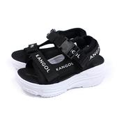 KANGOL 涼鞋 厚底 女鞋 黑色 6022230220 no074