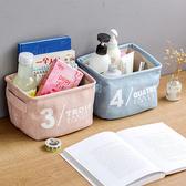 【BlueCat】1234清新素色雙耳防水棉麻收納袋 收納盒