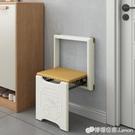 玄關椅 摺疊換鞋凳壁掛式隱藏穿鞋凳進門走廊小戶型壁凳省空間掛牆玄關凳 檸檬衣舍