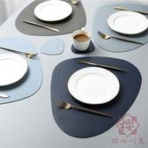 北歐風皮革餐桌墊家用西餐墊防水防油隔熱墊【櫻田川島】