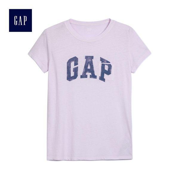 Gap女裝 Logo印花舒適短袖T恤 468983-薰衣草色