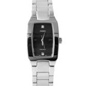 CASIO卡西歐 方形簡約水鑽黑面手錶 素雅簡約 柒彩年代【NEC102】
