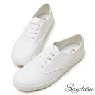 訂製鞋 皮革彈性鞋帶平底休閒鞋-山打努SANDARU【2388511】白色下單區